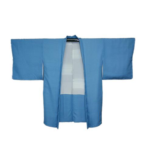 柄が多色な羽織ですが、柄を残さずブルーの色に・・・  香川 T・K 様2A'